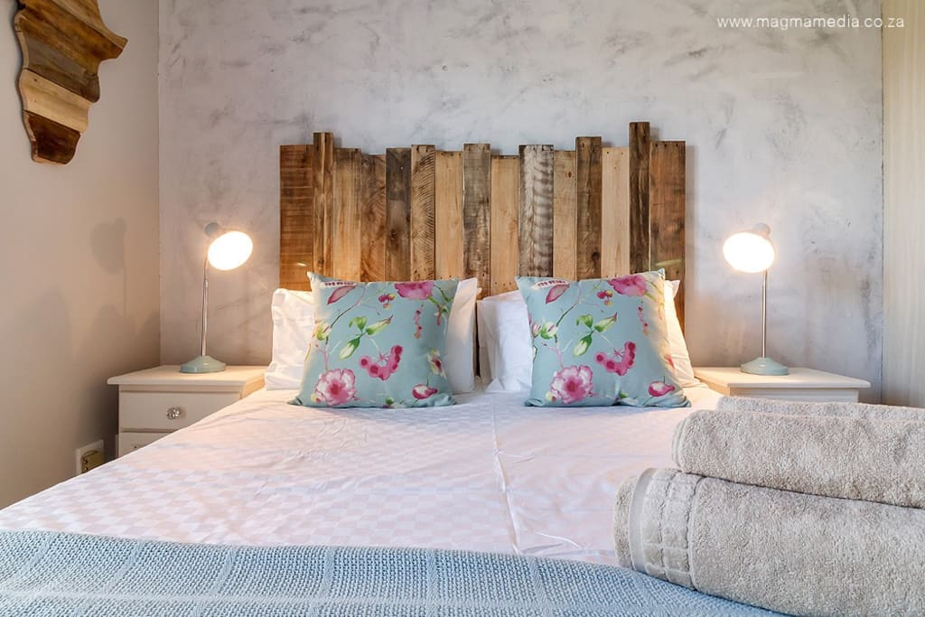 Bedroom 1 *Queen size (extra length) bed with good quality linen *Build in cupboards *Air conditioning (T&C)