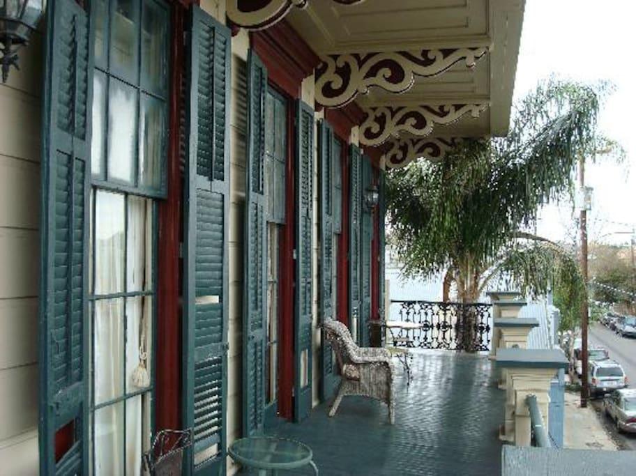 Beautiful balcony overlooking Royal Street