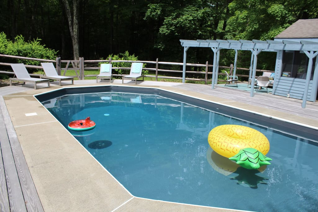 pool with brand new liner installed 2018