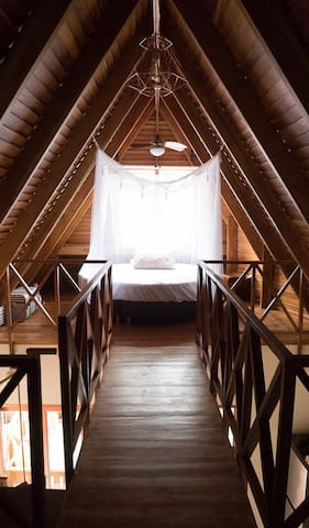 Attic bedroom- view from the wardrobe