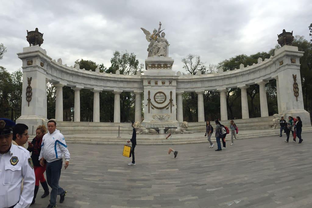 Alameda park main park of Mexico City