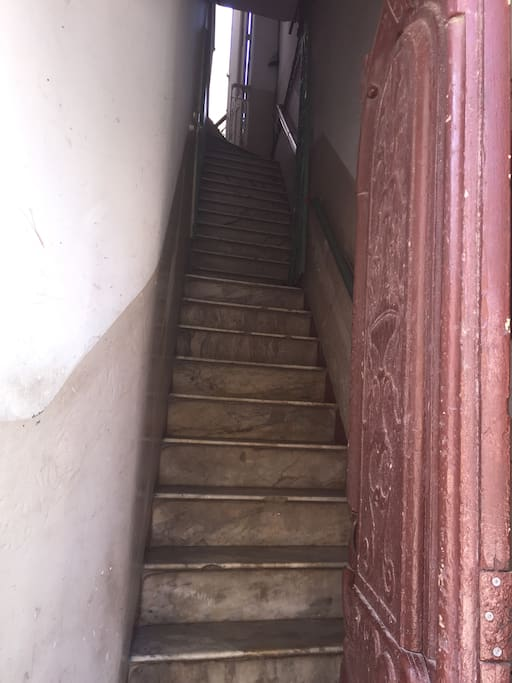 Stairs to the house.