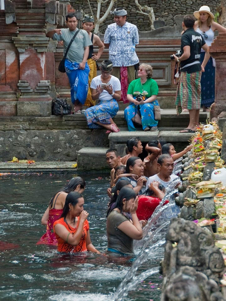 purification ritual at water temple