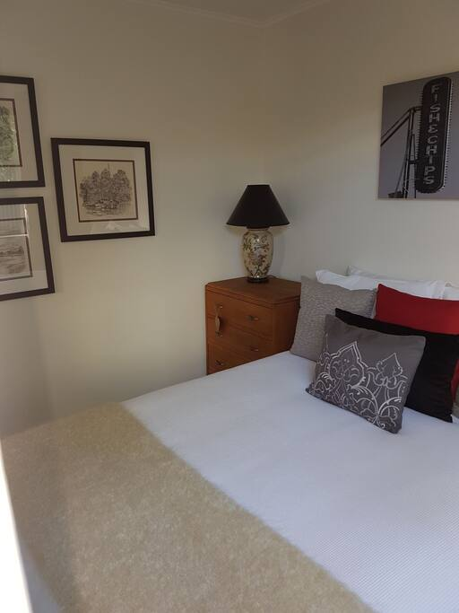 Double bedroom, new bed with quality linens
