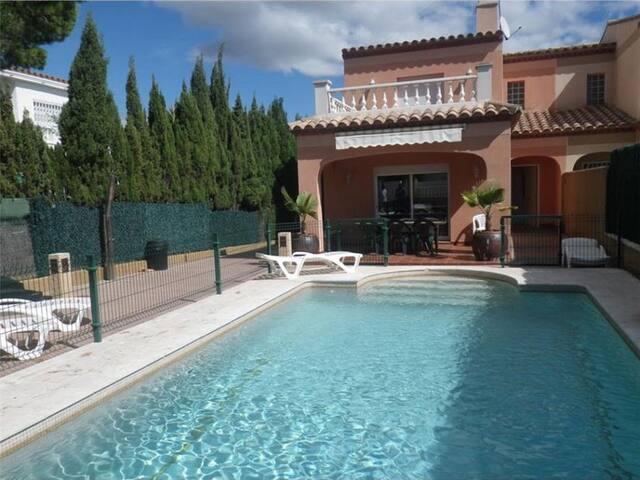 Villa piscine privée sécurisée wifi Plage à 1600m!
