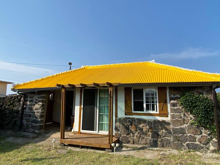 노란지붕 돌담집