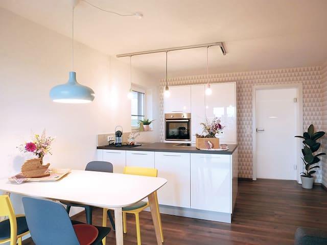 kleine Auszeit - der Ort zum Übernachten, (Thalheim), Ferienwohnung Rist, 38qm, 1 Schlafzimmer, max. 4 Personen
