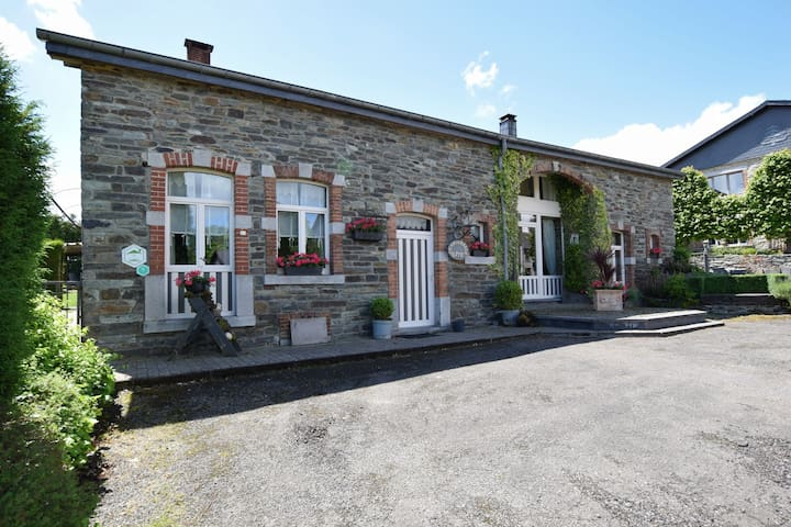 Old farmhouse carefully restored, in a peaceful Ardennes village