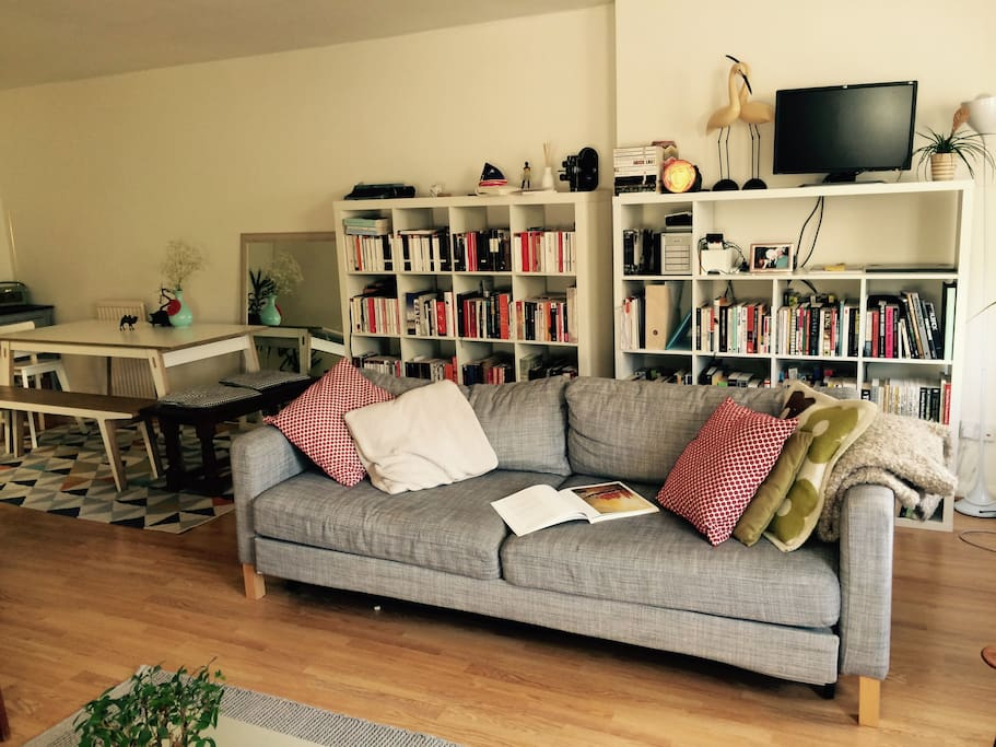 Cosy sofa which turns into a double size queen bed.