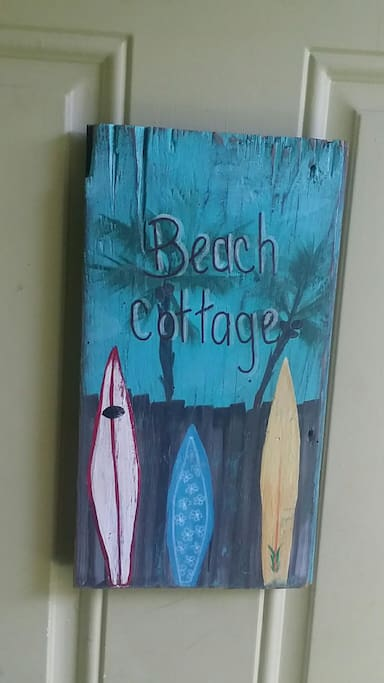 The beach cottage awaits! Private entrance to your vacation escape!