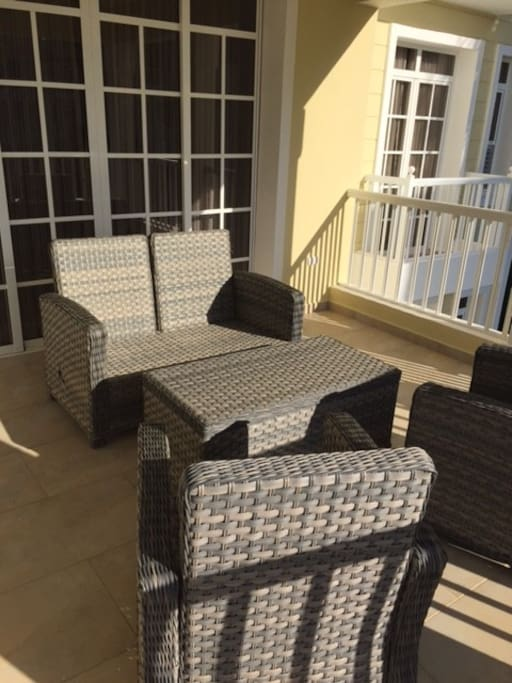Outside terrace with seating for 4