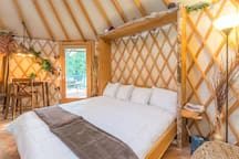 "Yurt at Danville. ""Most romantic stay ever"""