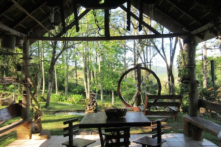 Casa Colonial na Mata Atlântica - Fachwerk Cottage - Três Coroas - Cottage