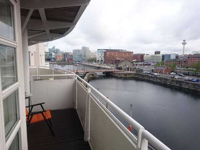 City centre double room, waterfront - Liverpool - Appartement