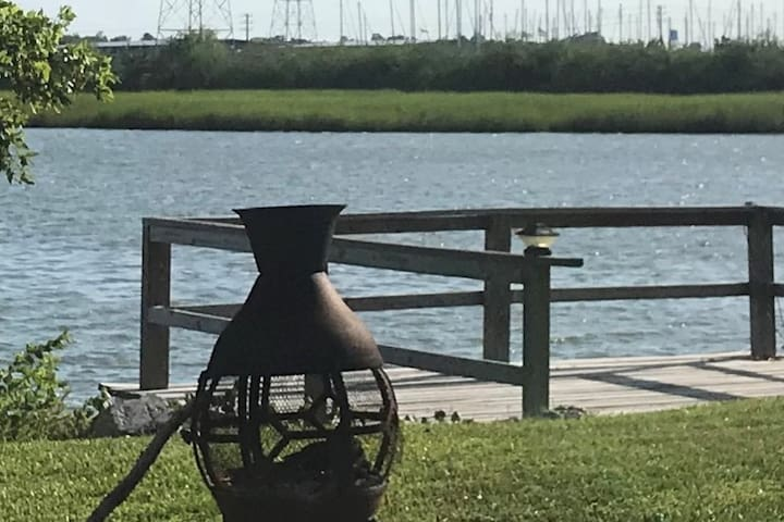 Back Bay View in Old Seabrook near Kemah Boardwalk