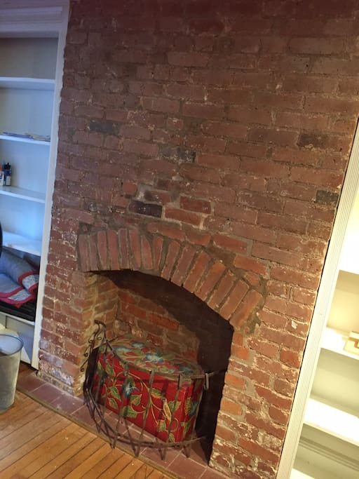 Original fireplace... has a tv there now!