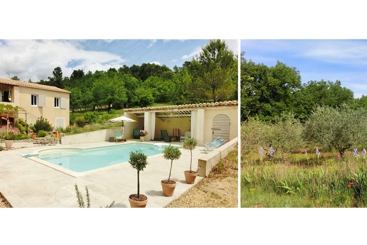 Apartment+piscine+silence+nature à Saignon,Luberon