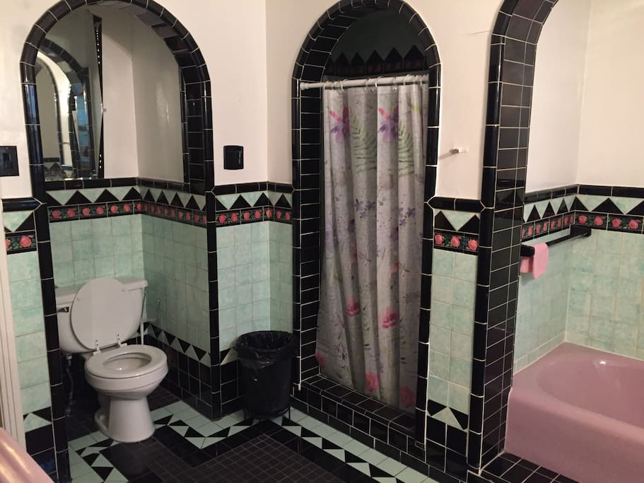 Shared large bathroom
