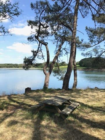 Cabane de pêcheur  au bord de la rivière de Crac'h