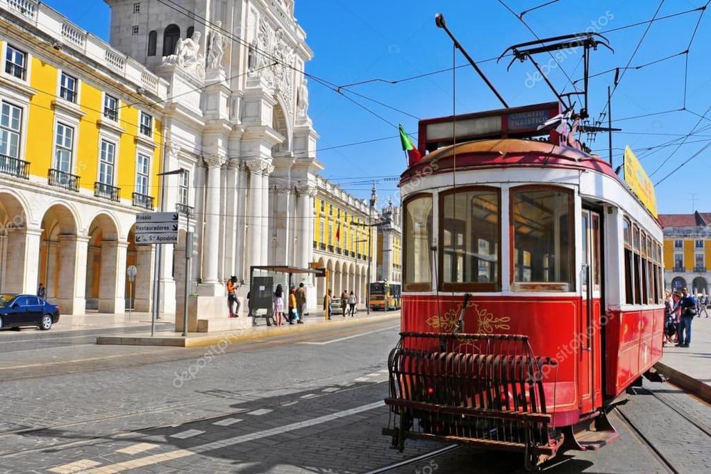 Next to to downtown Lisbon