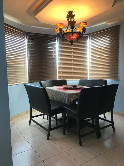 Newly painted eating area with brand new blinds