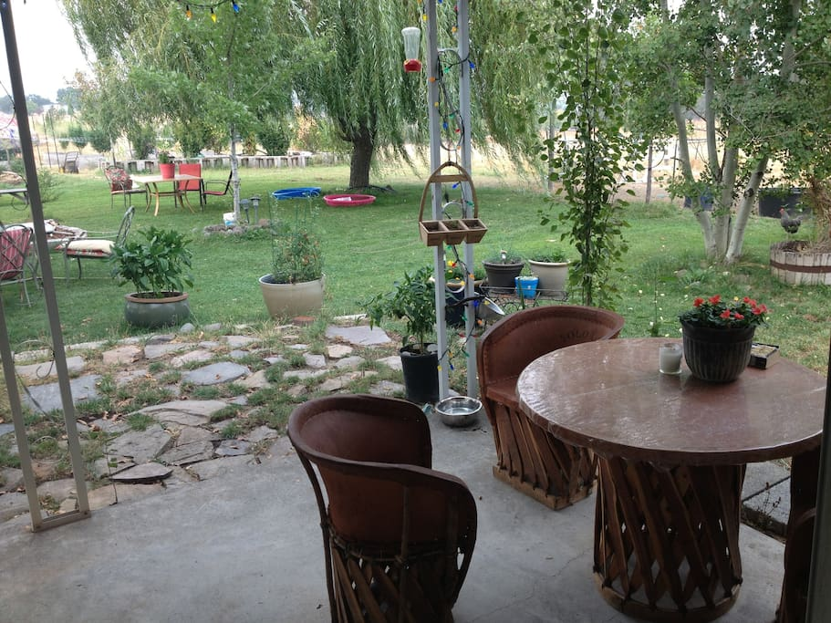 Back patio for breakfast or evening wine