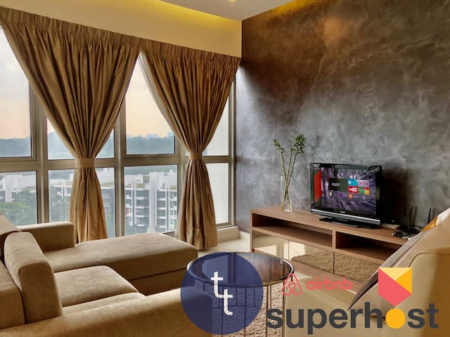 【Sanitised】KL tower View The Lux. 2br - Infi Pool