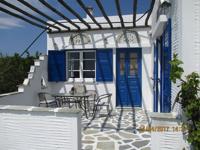 White & Blue house in Tinos island - Tinos - House
