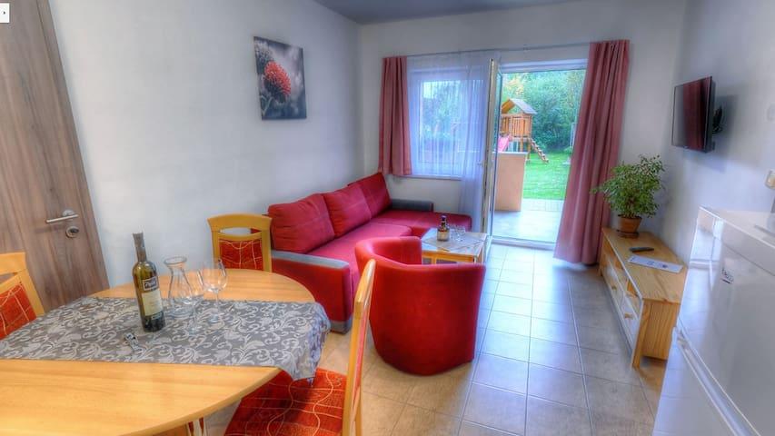 4-lůžkové apartmá v Apartmánech Nad Rybníky 40 m2