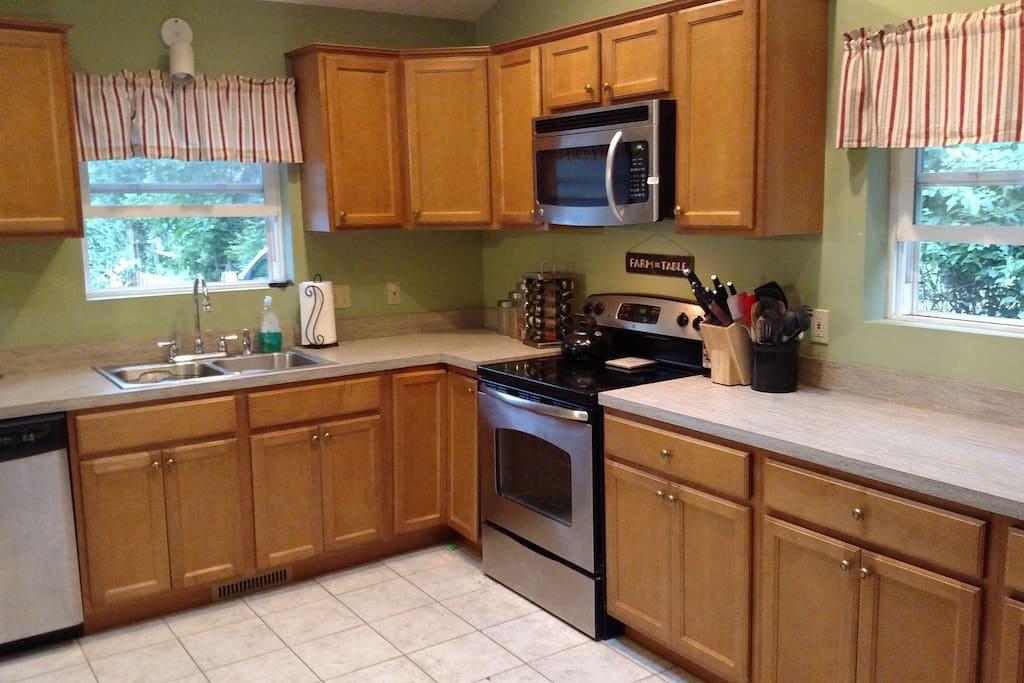 Kitchen. Newer Stainless Steel Appliances
