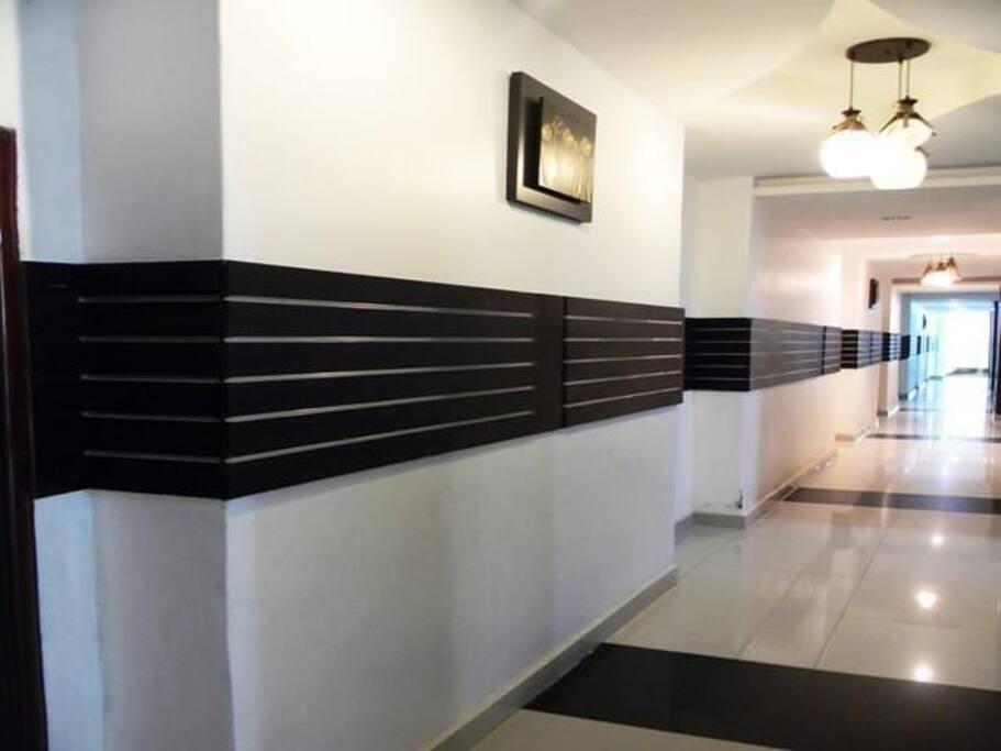 Corridor to your room