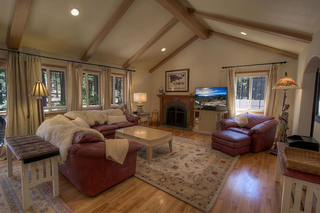 Great room/living room with fireplace