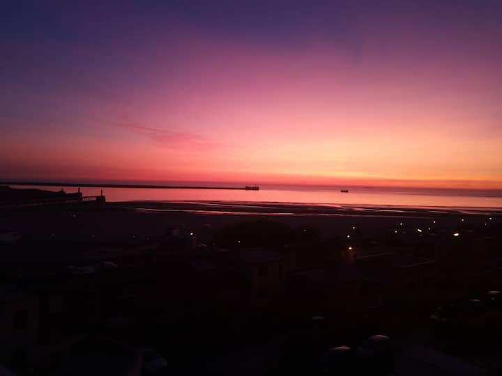 Vue panoramique, 30 mètres de la plage et Nausicaa