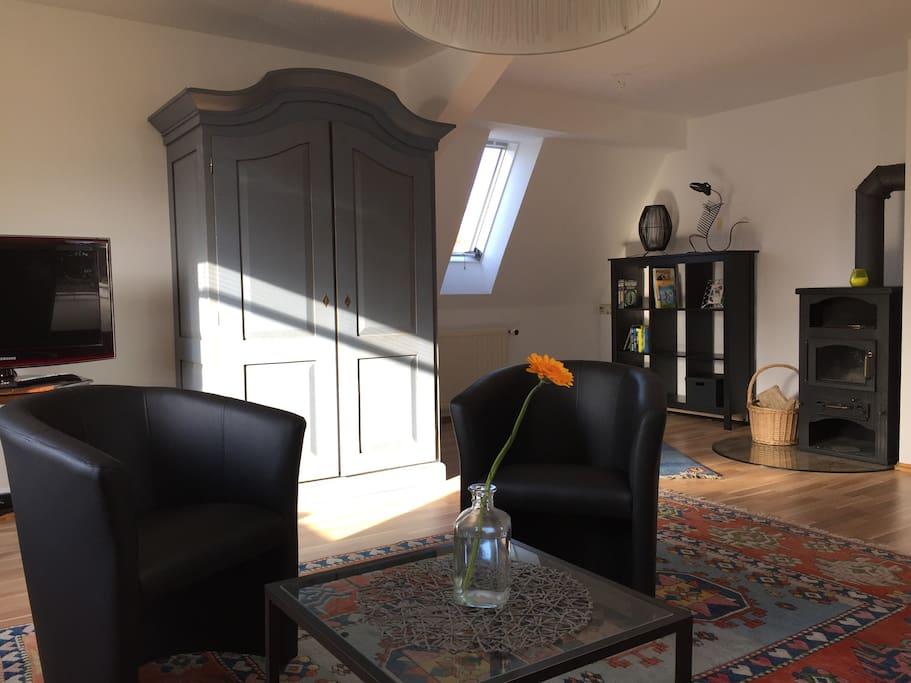 ferienwohnung am auwald mit kamin und sauna wohnungen zur miete in leipzig sachsen deutschland. Black Bedroom Furniture Sets. Home Design Ideas