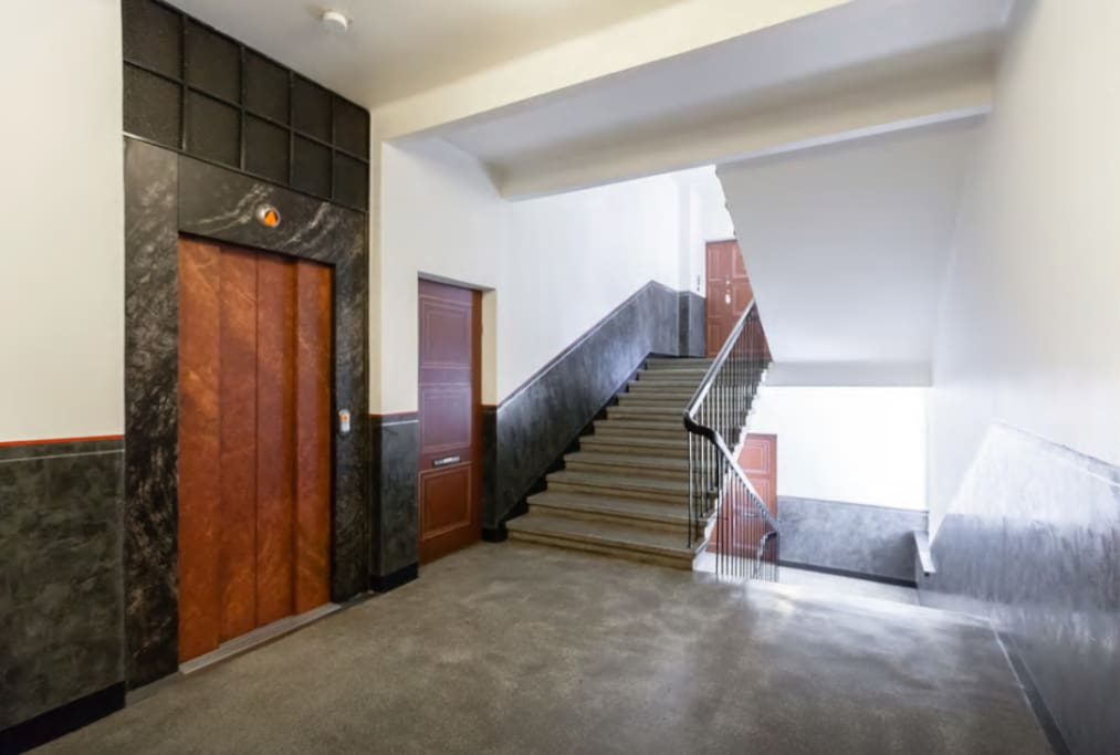 stairs and elevator