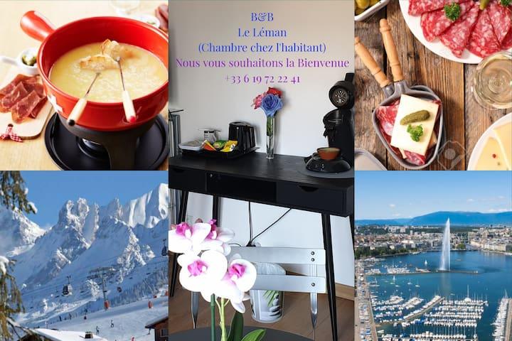 Chambre Double équipé 3✴️ proche Genève & Annecy