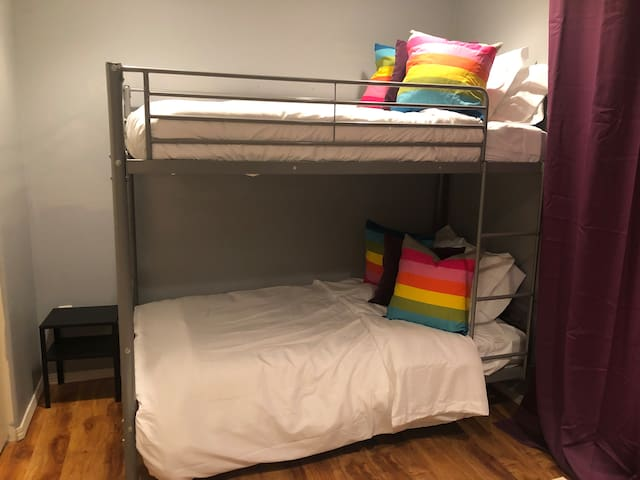 The bunk room is great for kids or adults.