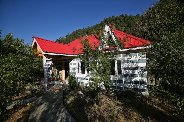 Mountain Cottage in a Fruit Orchard