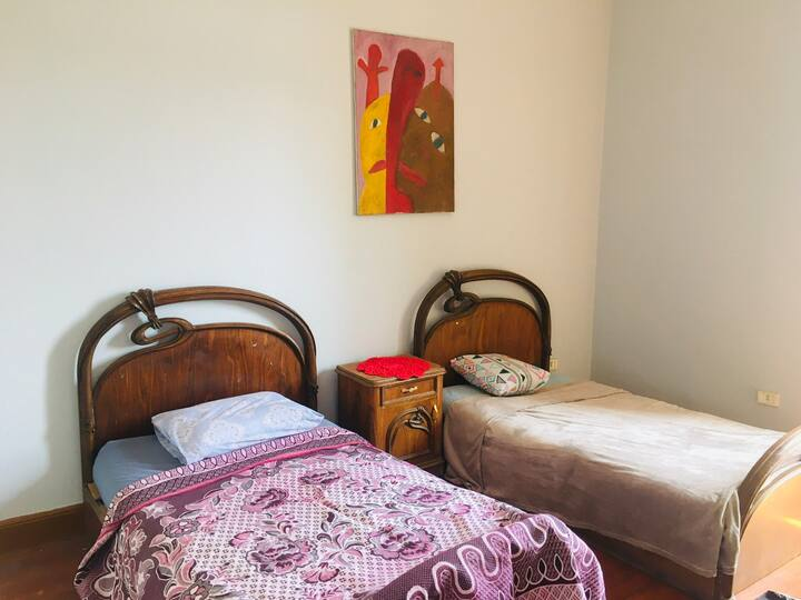 2 bed in Private room @High ceiling flat