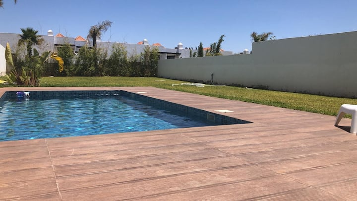 Nicely furnished house with a private pool