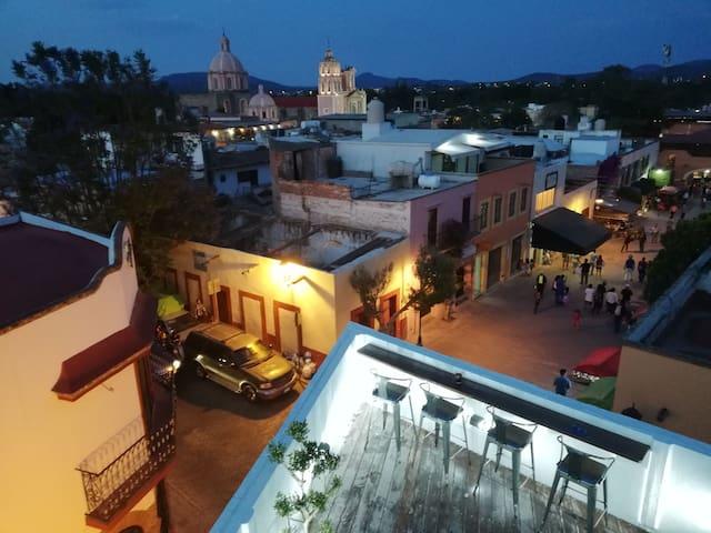 Habitación-Roof Garden Zona Centro - Tequisquiapan