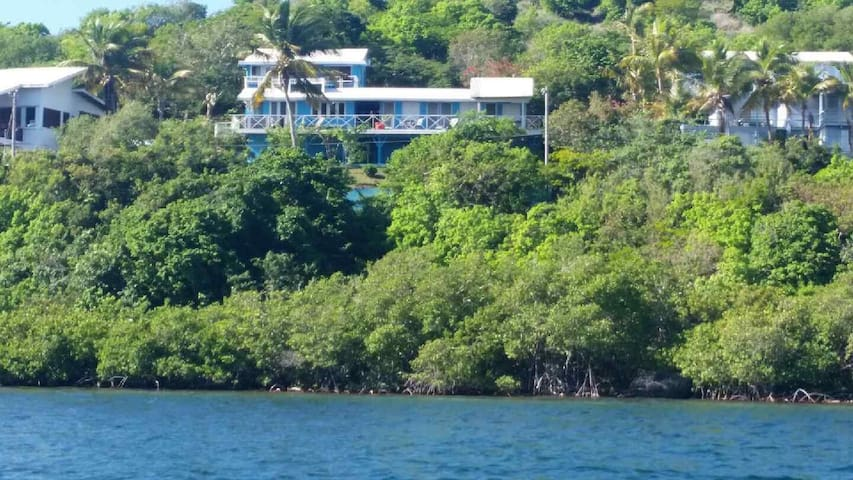 All of Villa Panorama from the water. Panorama East is left side first floor.