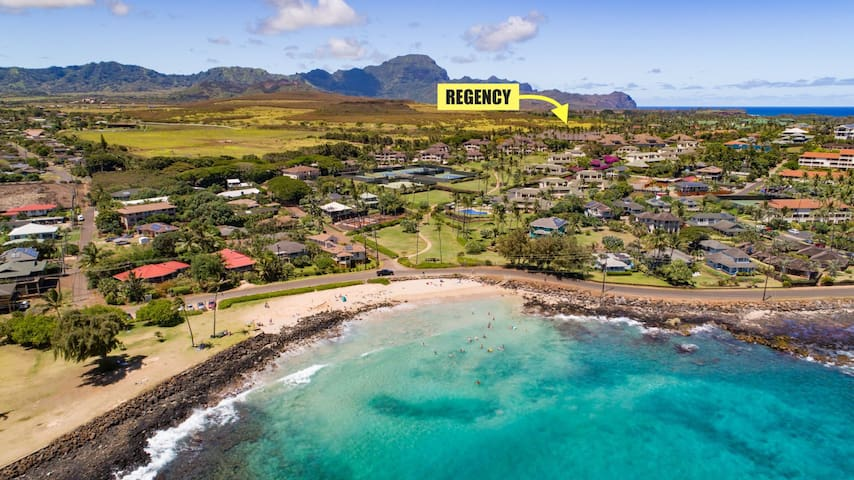 Regency - Half Way Between Brenneckes and Poipu Beach Park and Shipwreck`s