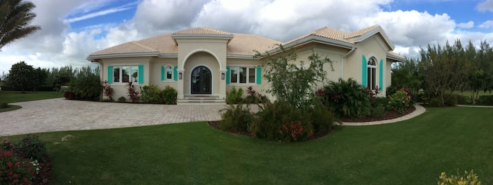 Waterfront and Princess Beach access luxury home