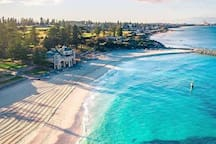 Birds-eye view of Cottesloe Beach 200 metres from us. Image from Pinterest.