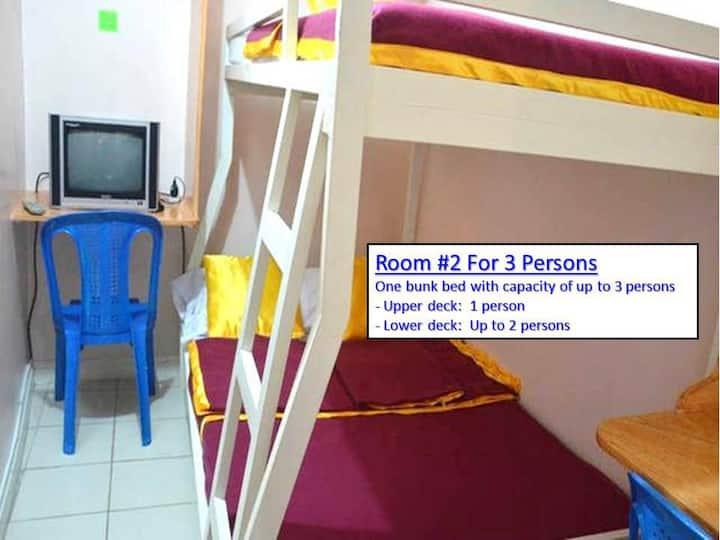 Budget Room for 3 in City Proper/Condo 103-2/Fiber