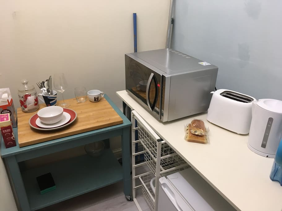 Cooking area for lite bites.