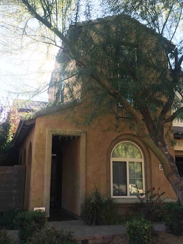 Casita is front of house, lower level. Your 'Home, Sweet Home' for your Phoenix getaway!
