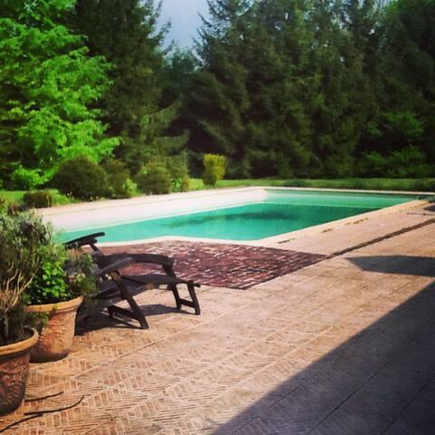 Petit chalet de campagne , piscine - Méricourt-sur-Somme - House