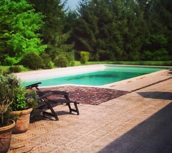 Petit chalet de campagne , piscine - Méricourt-sur-Somme - Haus